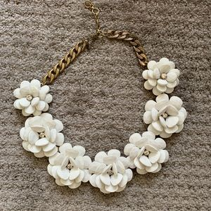I.Crew White Floral Necklace